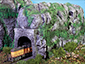 N-scale Cumberland Tunnel on a small diorama